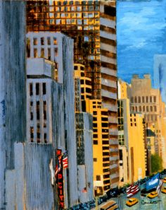 Radio City Scape by Tony Bennett, singer and painter!