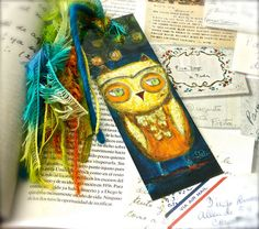 Lord of the Eyebrows Owl   Laminated Bookmark  by FlorLarios, $8.00