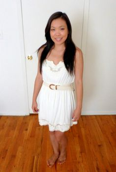 #OOTD on the blog today. Flowy white dress. See what nail color I paired with it! #nail