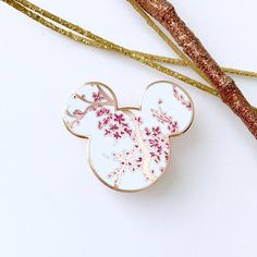 Cherry Blossom Mickey Pin - Enamel Pin by BinnyMouseShop