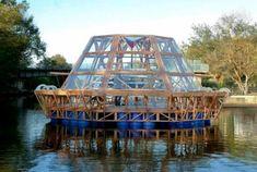 Jellyfish Barge un invernadero hidropónico flotante