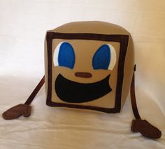Tiny Box Tim Plushie Cotton Plush Toy. 5.5 cube