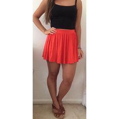 ASOS Skater Skirt ASOS Skater Skirt in orange. High waisted, jersey fabric. NWOT. ASOS Skirts Circle & Skater