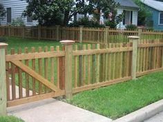 забор из штакетника - деревенская классика