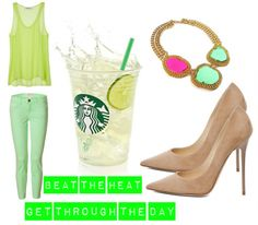 Trying to keep cool with Cool Lime #Starbucks Refresher   http://spoiledlittlelagirls.com/?p=10886#