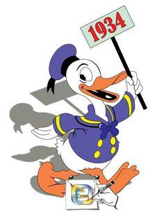 PATO DONALD DE 1934 Pato Donald e o personagem criado pelos estúdios de Walt Disney, em 1934. Minha homenagem, pois o personagem está fazendo 80 anos. Desenho - Ilustração - Illustration - Drawing jearterocha@gmail.com