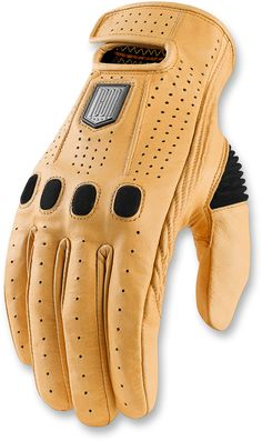 Ministry of Bikes - Icon 1000 Prep Kangaroo Leather Motorcycle Glove Tan, £119.95 (http://www.ministryofbikes.co.uk/mens-clothing/gloves/icon-1000-prep-kangaroo-leather-motorcycle-glove-tan.html)