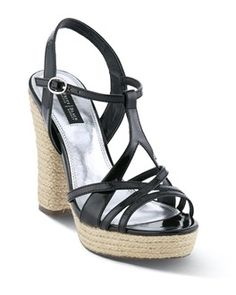 Strappy Patent Espadrille Heel | White House Black Market