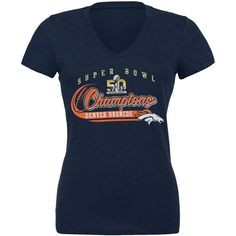 Denver Broncos - Super Bowl Champions Juniors Slubbed V-Neck T-Shirt