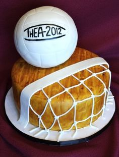 Volleyball Cake - I want this for my birthday - which by the way is day one of sectionals! Hint! Hint!