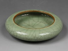 A Fine Chinese Qing Celadon Glazed Brush Washer