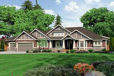 Plan W23279JD: Northwest, Premium Collection, Corner Lot, Craftsman, Photo Gallery House Plans & Home Designs