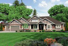 Plan W23279JD: Northwest, Premium Collection, Corner Lot, Craftsman, Photo Gallery House Plans & Home Designs