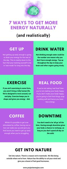 How to get more energy naturally!
