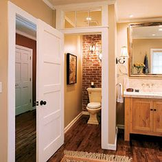 like the idea of transoms in kitchen or bathroom spaces
