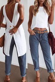 Irregular Button Back Dip Hem Tank Top - Herren- und Damenmode - Kleidung Look Fashion, Teen Fashion, Fashion Outfits, Womens Fashion, Fashion Trends, Fashion Ideas, Fashion Spring, Feminine Fashion, Cheap Fashion