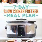 7-Day Slow Cooker Freezer Meal Plan