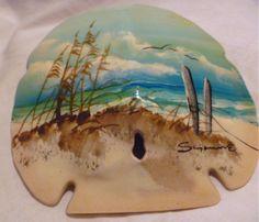 Beautiful Vintage Beach Art Sand Dollar by grandmasjewelry777, $7.50