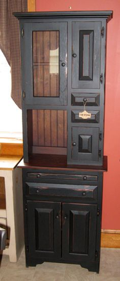 Amish Furniture - All Available Dinning and Kitchen Hoosier Hutches and Buffets, Finished & Unfinished Amish Furniture, Furniture Plans, Wood Furniture, Buffets, Wood Doors, Armoire, Interior, Bookcase, Desk