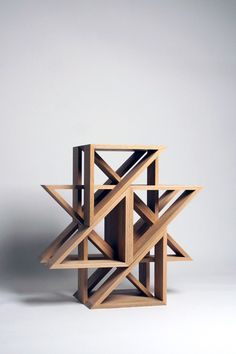 Oak Or Walnut Stools Stackable In Creative Arrays