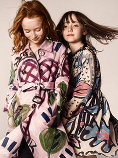 Prorsum miniatures - hand-painted trench coats inspired by the Burberry Prorsum runway.   Via us.burberry.com