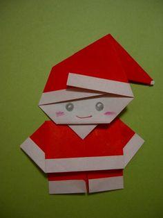mini santa origami