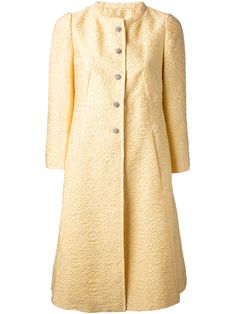 Buy Dolce & Gabbana Women's Yellow Boxy Jacquard Coat, starting at $3180. Similar products also available. SALE now on!