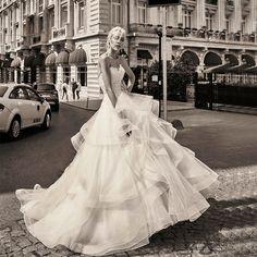 Ruffled Organza Tull A Line Wedding Dress Sexy Off The Shoulder Appliques Sweetheart Wedding Dress Vestido De Noiva (SL-W549)