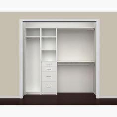 ClosetMaid SpaceCreations 52 - 87 Closet Organizer Kit (White - N/A - Laminate) Bedroom Closet Design, Closet Designs, Small Closet Design, Small Closet Organization, Bedroom Organization, Kids Closet Storage, Clothing Organization, Organizing, Reach In Closet