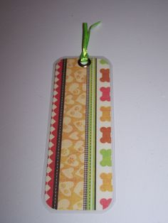 laminated paper bookmark (rounded edges) - dog bones (SKU 15-055) Handmade bookmark