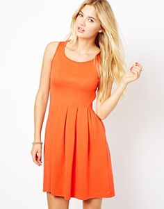 Vila Pleated Skater Dress