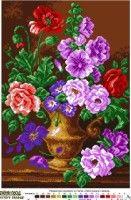 Gallery.ru / Фото #1 - Букет (Матрёнын Посад) - Tatjana-vas Cross Stitch Flowers, Cross Stitch Patterns, Crochet, Dots, Basket, Painting, Diamond, Fruits Basket, Baskets