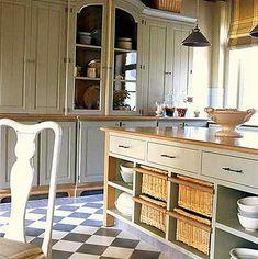 Una cocina rustica