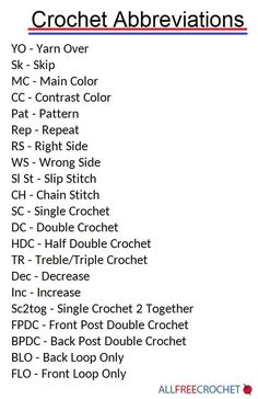 Crochet Abbreviations | Need to brush up on your crochet abbreviations? Check out this guide!