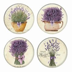Lavender Bouquests Flowers Magnets or Pinback Buttons or Flatback Medallions Set of 4 Lavender Bouquet, Lavander, Lavender Oil, My Flower, Flowers, Bookmarks Kids, Printed Napkins, Beige Background, Pigment Ink