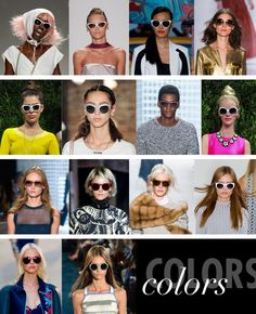 Colors: The catwalks were white hot, as tons of models sported shades of all shapes and sizes in the classic snowy hue. Neutral nude, muted brown and earthy washes were also trending, with unexpected pops of metallic gold and silver and rich magenta and plum.