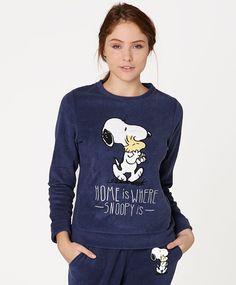 Snoopy fleece sweatshirt - OYSHO