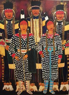 Crow Indian Fair Dancers by Kevin Red Star Native American Paintings, Native American Artists, Indian Paintings, Native American Indians, Native Americans, Crow Indians, Crow Art, Indian Scout, Southwestern Art