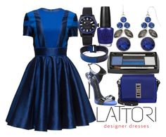 """beautiful blue dress :)"" by j-n-a ❤ liked on Polyvore featuring RED8USA, OPI, Lattori, Proenza Schouler, Lancôme, Giuseppe Zanotti, Liz Claiborne, George Frost and lattori"