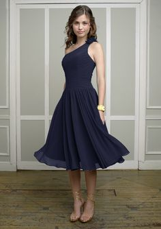 Style 883 in navy from Morilee by Madeline Gardiner. This is really pretty and simple