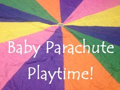 Baby Parachute Playtime at Narrating Tales of Preschool Storytime