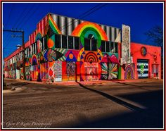 9th and Broadway in Automobile Alley Oklahoma City, owned by The Flaming Lips