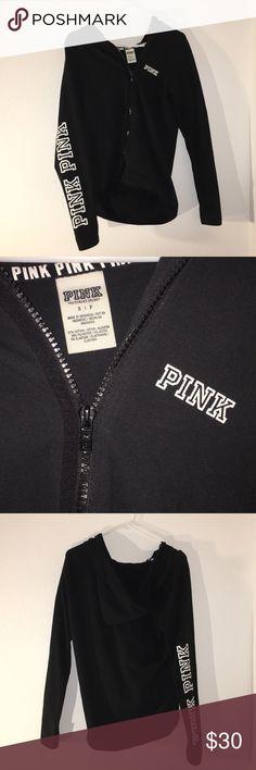 Victoria Secret Pink hoodie! 💗🌹 Worn twice minimal wear has thumb holes PINK Victoria's Secret Tops Sweatshirts & Hoodies