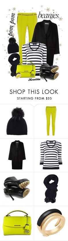 """""""nr 765 / Hat Head: Pom Pom Beanies"""" by kornitka ❤ liked on Polyvore featuring Mint Velvet, Jason Wu, Givenchy, Dsquared2, Yves Saint Laurent, Twin-Set, MICHAEL Michael Kors, Michael Kors and pompombeanies"""