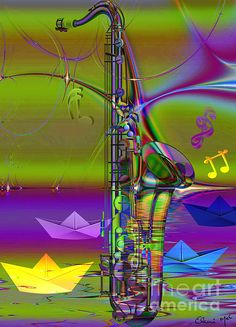"""Jazz vision is a wordless conversation between musical notes and visual expressions"""".  Barbara Janusziewicz"""