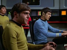 I have always noticed a special relationship between Spock and Chekov, almost a big brother mentality that Spock has toward him secretly. Chekov is the one whom he asks for assistance in technical matters, whom he addresses more frequently in a group, and so on. I like it :)