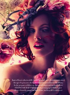 la vie en rose: karen elson by alexi lubomirski for uk harpers bazaar may 2013 | visual optimism; fashion editorials, shows, campaigns & more!