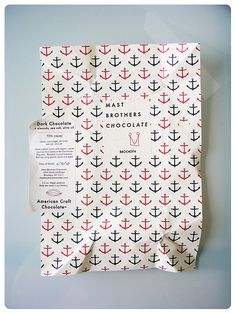 Mast Brothers chocolate wrap with anchors
