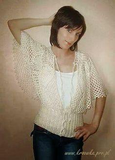 Crochet y dos agujas: Blusa al crochet con diseño circular
