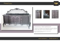 Original restored baroque silver sideboard. By atelier myArtistic www.myartistic.it
